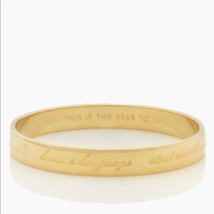 Kate Spade This Is the Year To ... Idiom Bangle